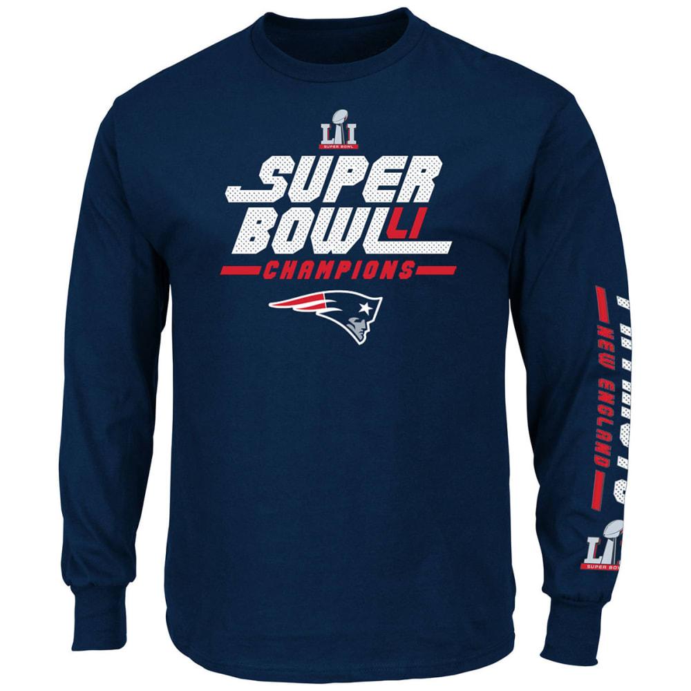 NEW ENGLAND PATRIOTS Men's Super Bowl LI Champions Core Winner Long-Sleeve Tee - NAVY