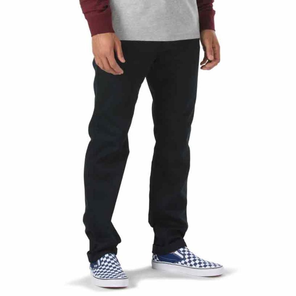 VANS Guys' Authentic Stretch Chino Pants - BLACK-BLK
