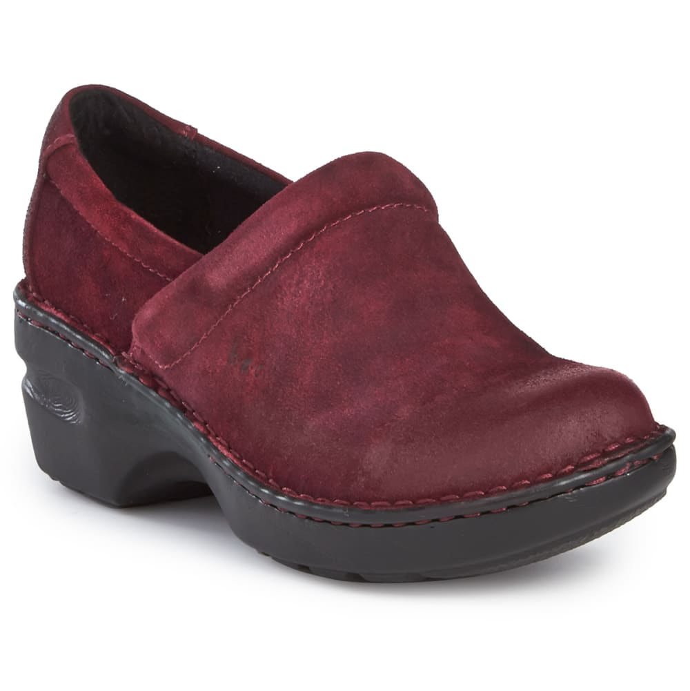 B.o.c. Women's Peggy Suede Clogs, Burgundy - Red, 6