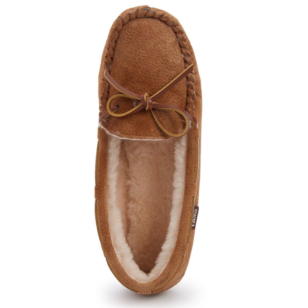 LAMO Girls' Kayla Sherpa Moccasin Slippers, Chestnut - CHESTNUT