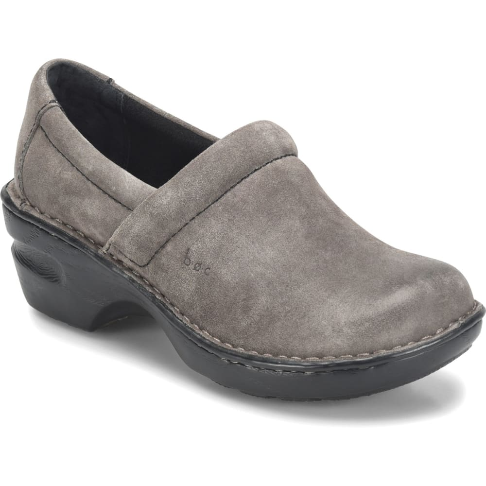 B.O.C. Women's Peggy Suede Clogs, Grey - GREY