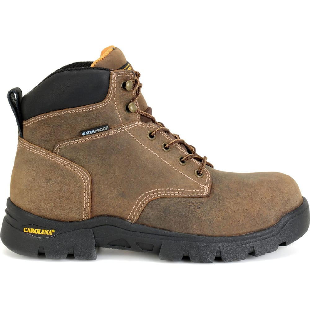 CAROLINA Men's 6 in. Circuit Waterproof Composite Toe Work Boots, Tan Soft Honcho - TAN SOFT HONCHO