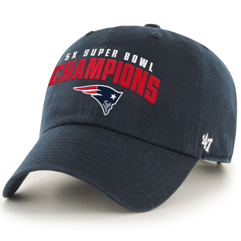 NEW ENGLAND PATRIOTS Super Bowl 51 5X Champions 47 Clean Up Adjustable Cap - NAVY