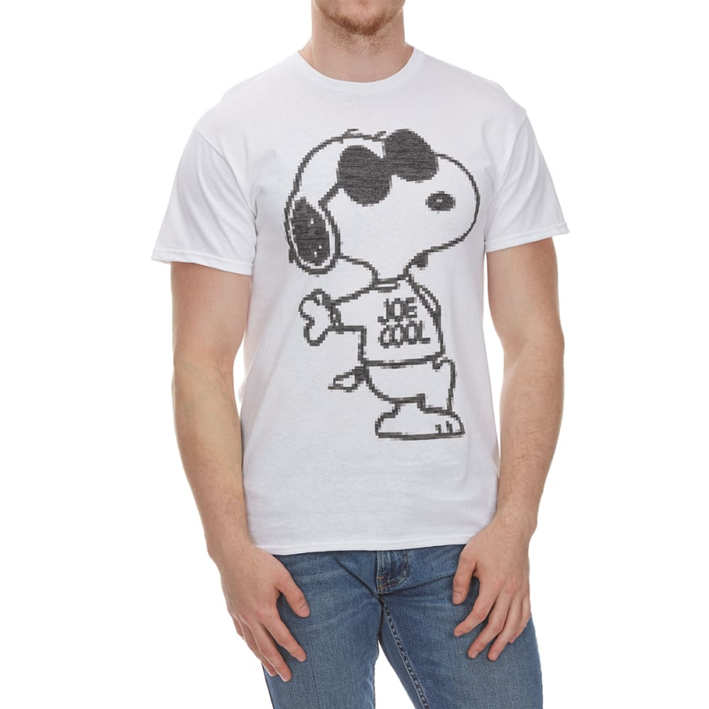 HYBRID Guys' Snoopy Joe Cool Pixel Short-Sleeve Tee - WHITE