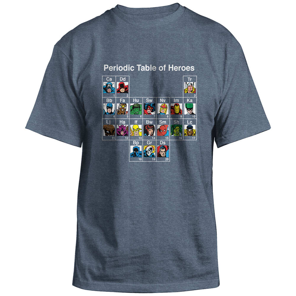 HYBRID Guys' Marvel Hero Elements Short-Sleeve Tee - NAVY HTR