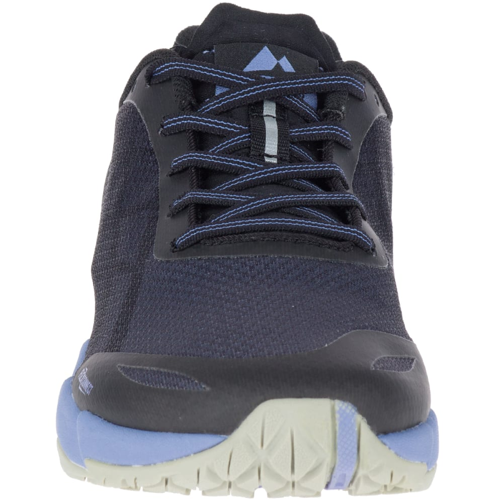 MERRELL Women's Bare Access Flex Trail Running Shoes, Black/Metallic Lilac - BLACK/MET LILAC