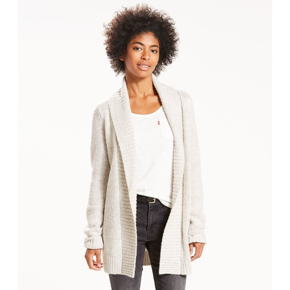 LEVI WOMEN'S LONG CARDIGAN - 0000-ICE GREY HEATHE