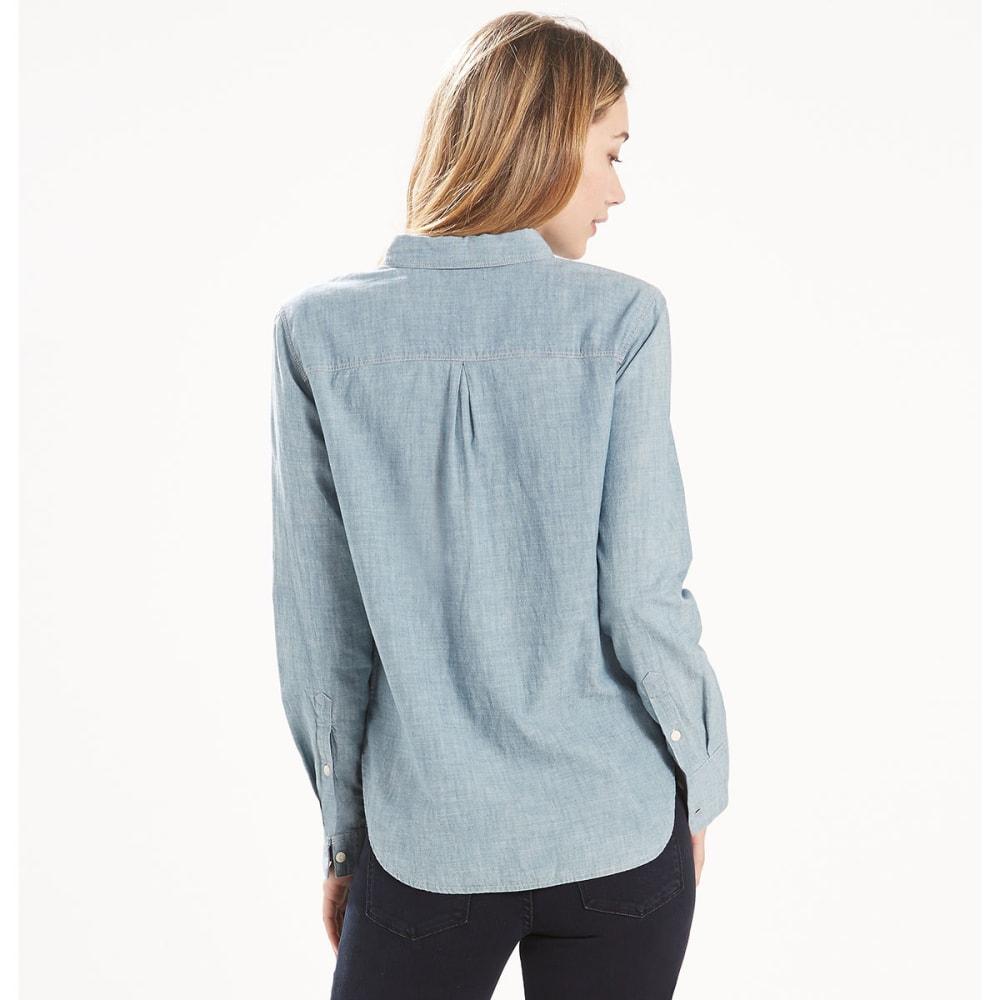 LEVI'S Women's Boyfriend Workwear Shirt - 0020-DARK MID WASH