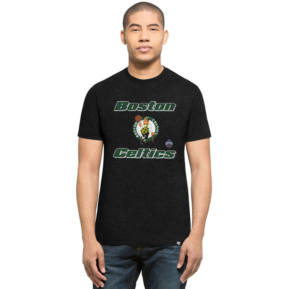 BOSTON CELTICS Men's Knockaround '47 Club Jet Black Short-Sleeve Tee - BLACK