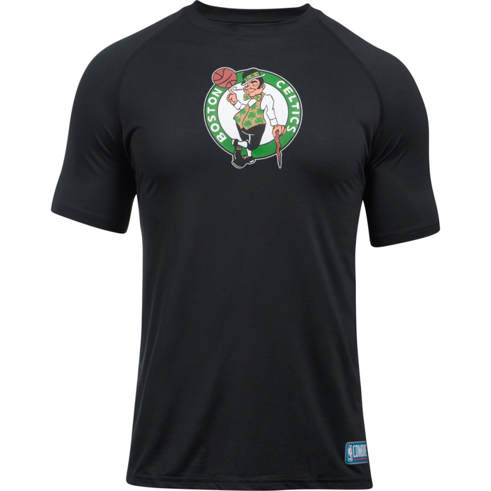 UNDER ARMOUR Men's Boston Celtics Combine UA Tech€ž¢ Logo Short-Sleeve Tee - BLACK