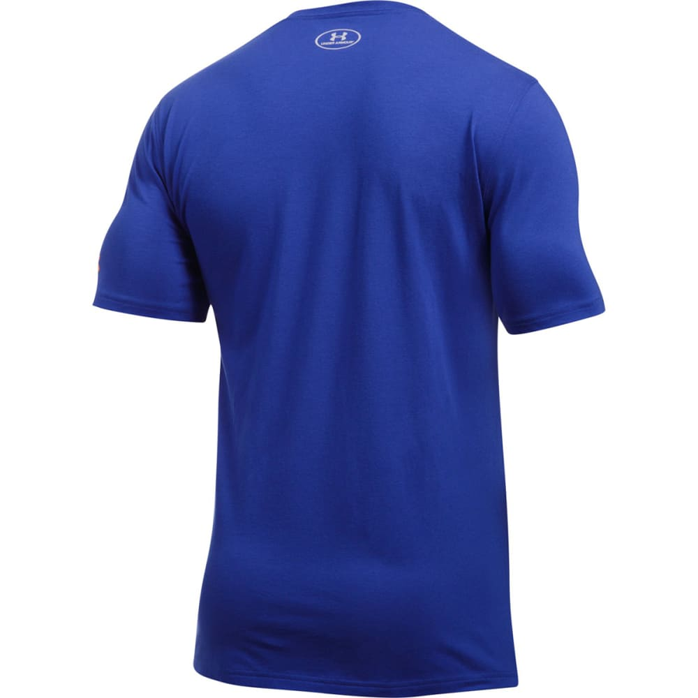 UNDER ARMOUR Men's New York Knicks Combine Graphic Short-Sleeve Tee - ROYAL BLUE