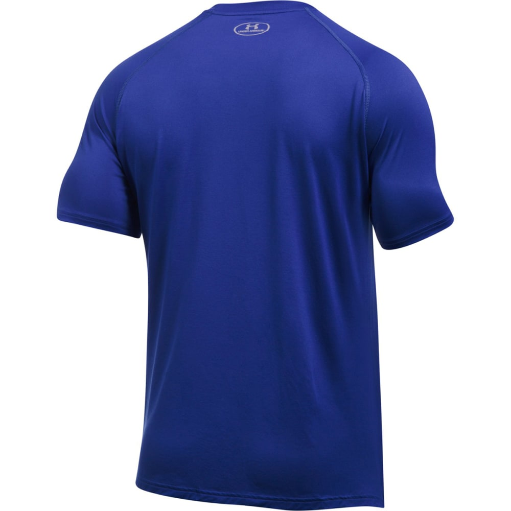"UNDER ARMOUR Men's New York Knicks Combine UA Tech""¢ Logo Short-Sleeve Tee - ROYAL BLUE"