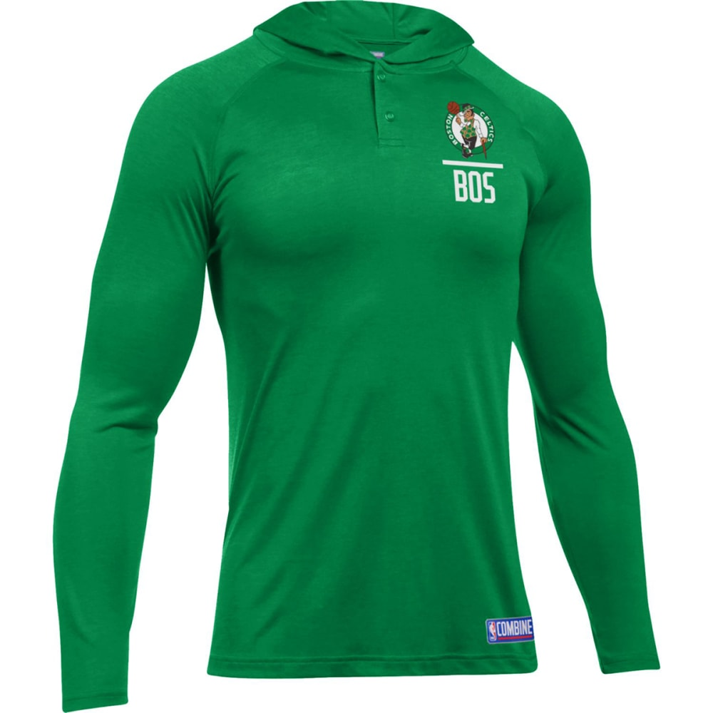UNDER ARMOUR Men's Boston Celtics Combine UA Tech Printed Pullover Hoodie - GREEN