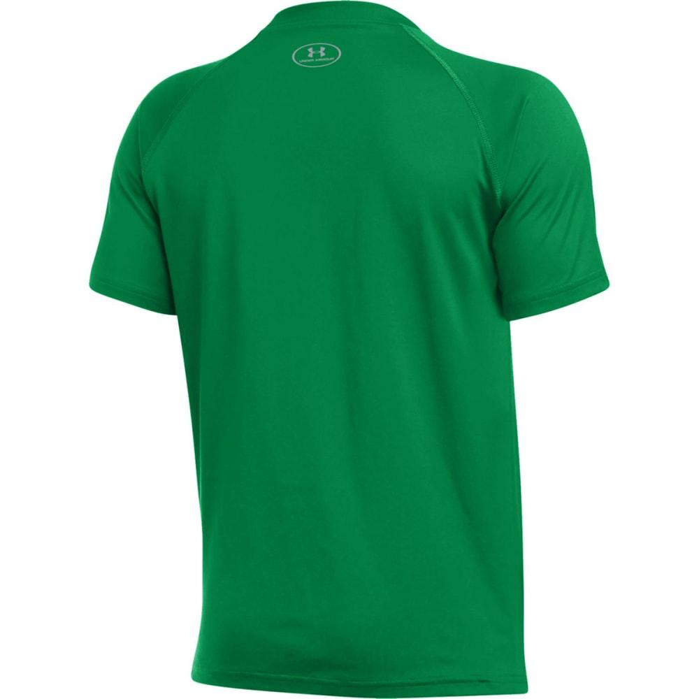 UNDER ARMOUR Big Boys' Boston Celtics Clutch Shooter Poly Tech Short-Sleeve Tee - GREEN