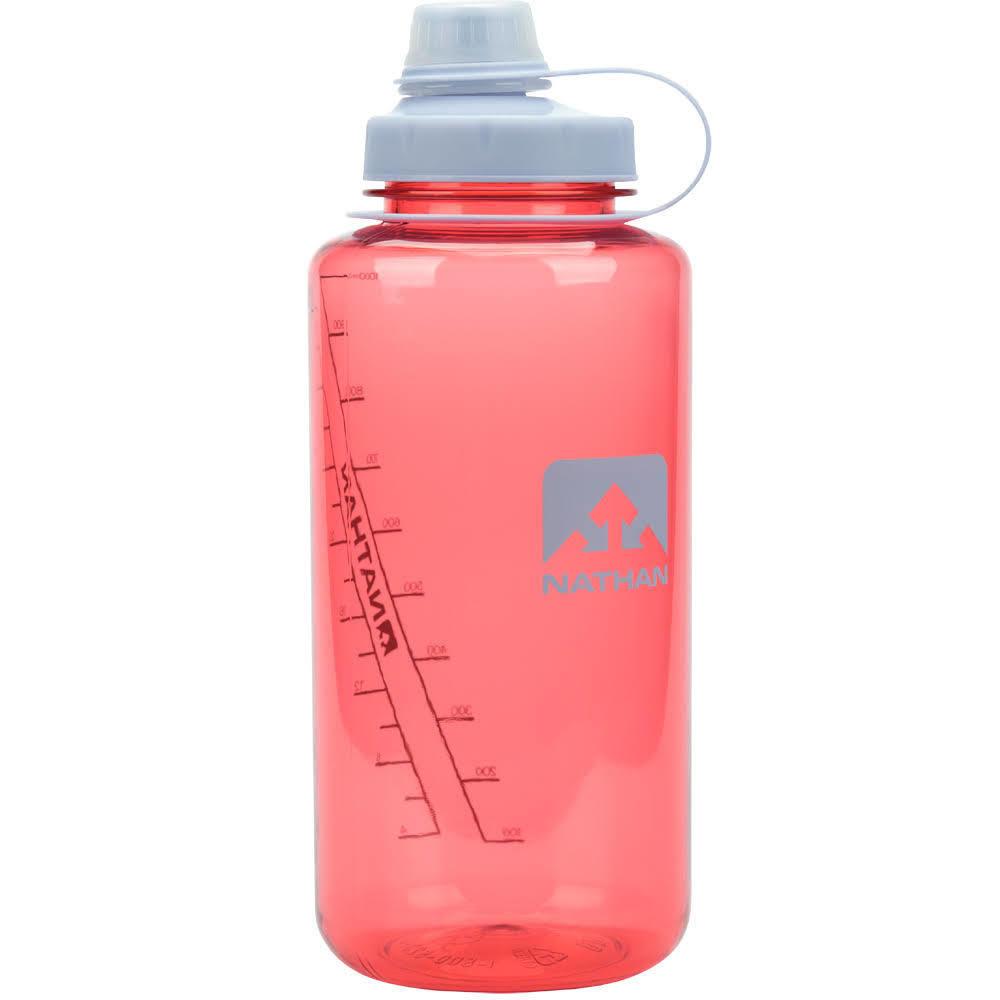 NATHAN SPORTS BigShot Hydration Bottle, 1 L - SHELL PINK-0261