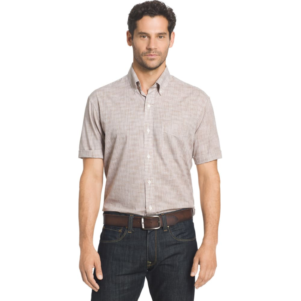 ARROW Men's Coastal Cove Short Sleeve Woven Shirt - SEPIA TINT-216