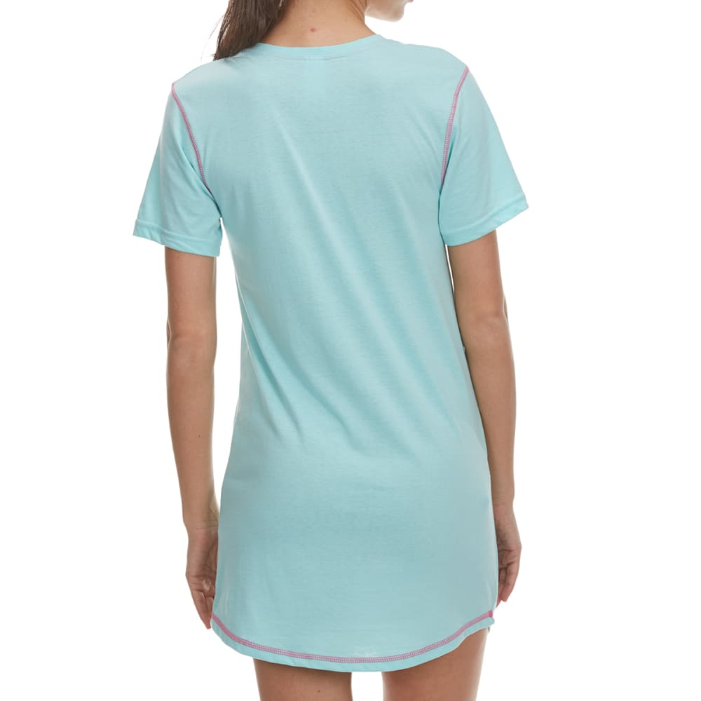 PANTIES PLUS Women's Pardon My French Sleep Shirt - MINT TURQ