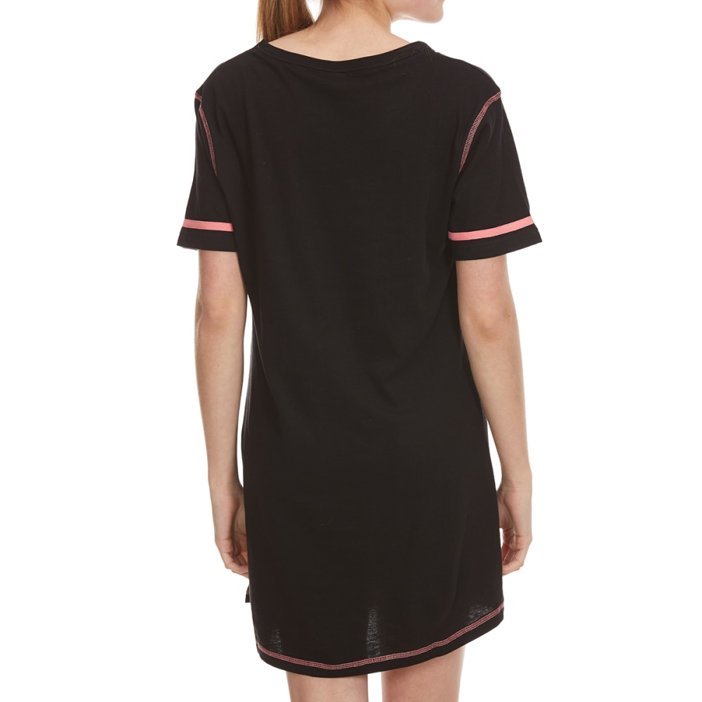 PANTIES PLUS Women's Rise Shine Sparkle Sleep Shirt - BLACK