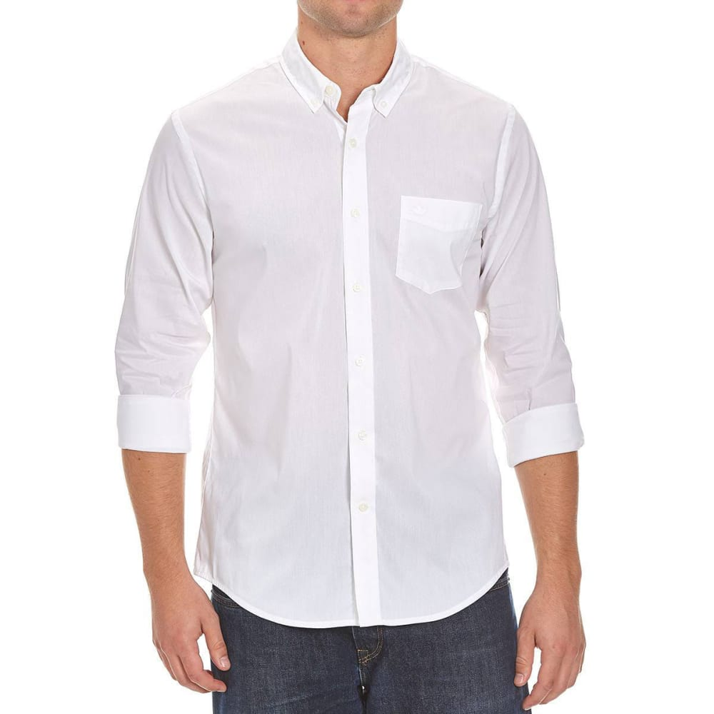DOCKERS Men's Anchor Solid Woven Shirt - WHITE-0634
