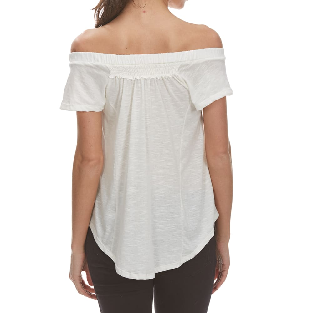 THYME & HONEY Women's Smocking Detail Top - EGGWHITE