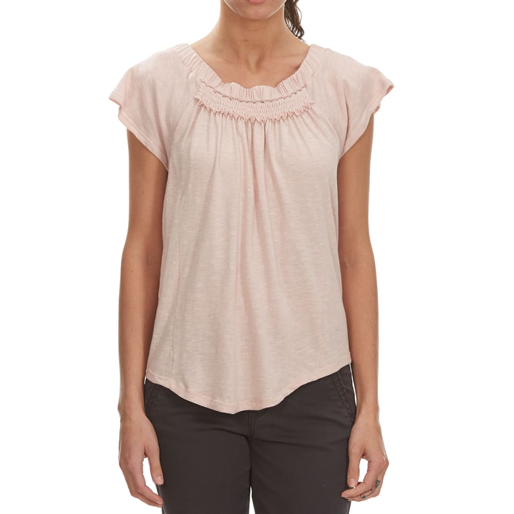 THYME & HONEY Women's Smocking Detail Top - PEACH WHIP