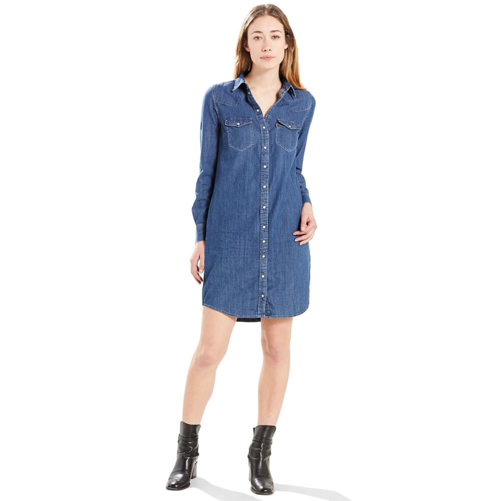 LEVI'S Women's Iconic Western Denim Dress - 0002-FREEDOM BLUE