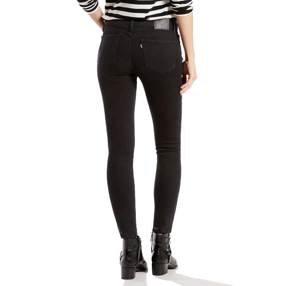 LEVI'S Women's 711 Skinny Jeans - 0049-SOFT BLACK