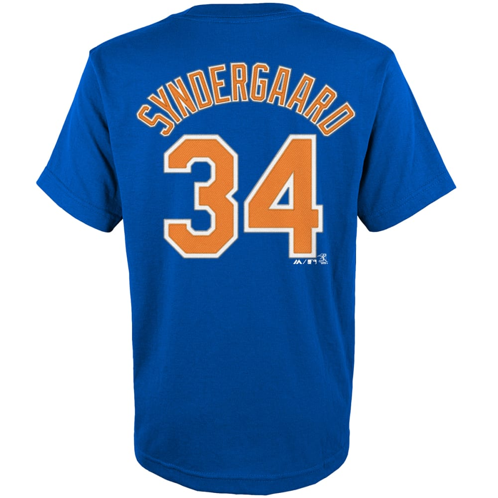 NEW YORK METS Kids' Syndergaard #34 Name and Number Short Sleeve Tee - ROYAL BLUE