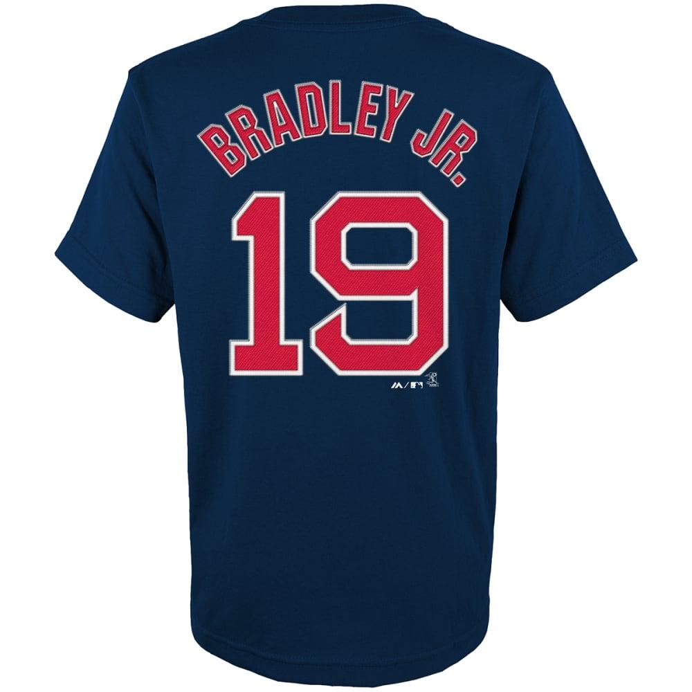 BOSTON RED SOX Boys' Bradley Jr. #19 Short Sleeve Tee - NAVY