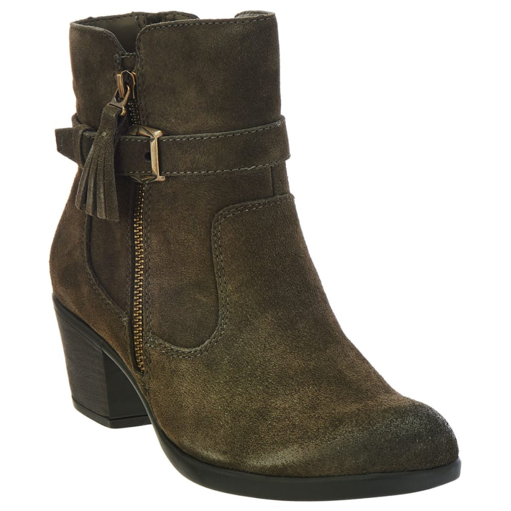 Earth Origins Women's Tori Suede Booties, Dusty Olive, Wide - Green, 8