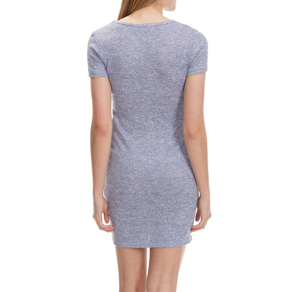 POOF Juniors' Short-Sleeve T-Shirt Dress - ROYAL