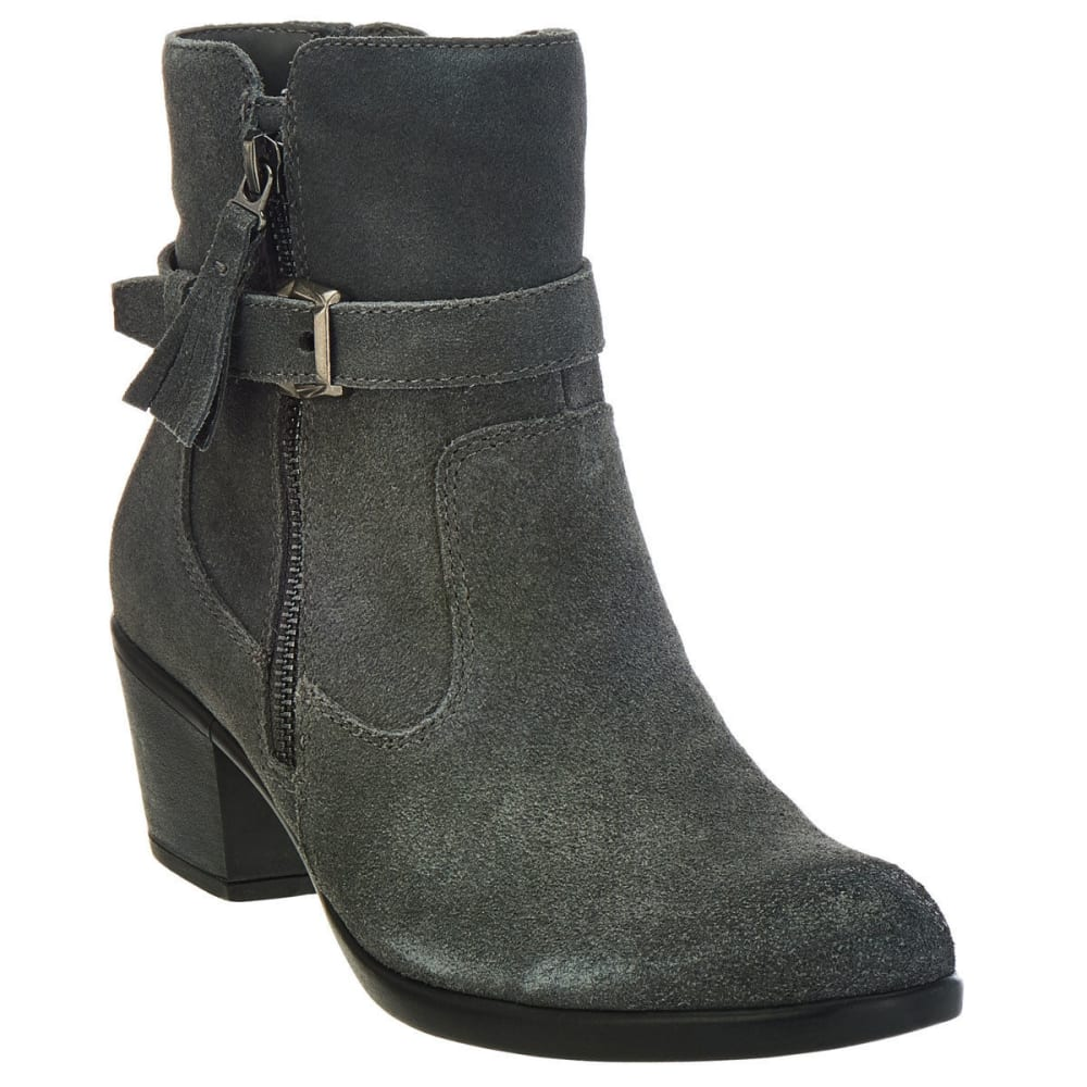Earth Origins Women's Tori Suede Booties, Iron Grey, Wide