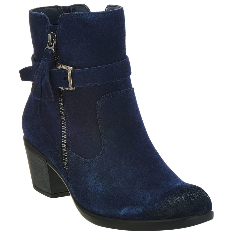 EARTH ORIGINS Women's Tori Suede Booties, Navy - NAVY