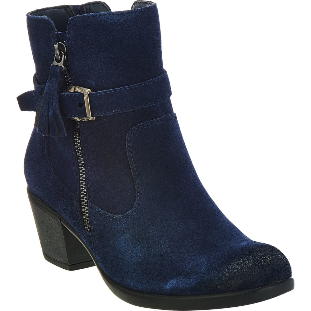 EARTH ORIGINS Women's Tori Suede Booties, Navy, Wide - NAVY