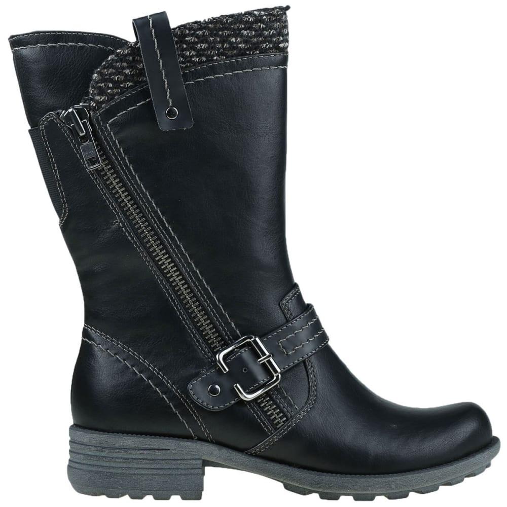 EARTH ORIGINS Women's Presley Sweater Asymmetrical Boots, Black - BLACK