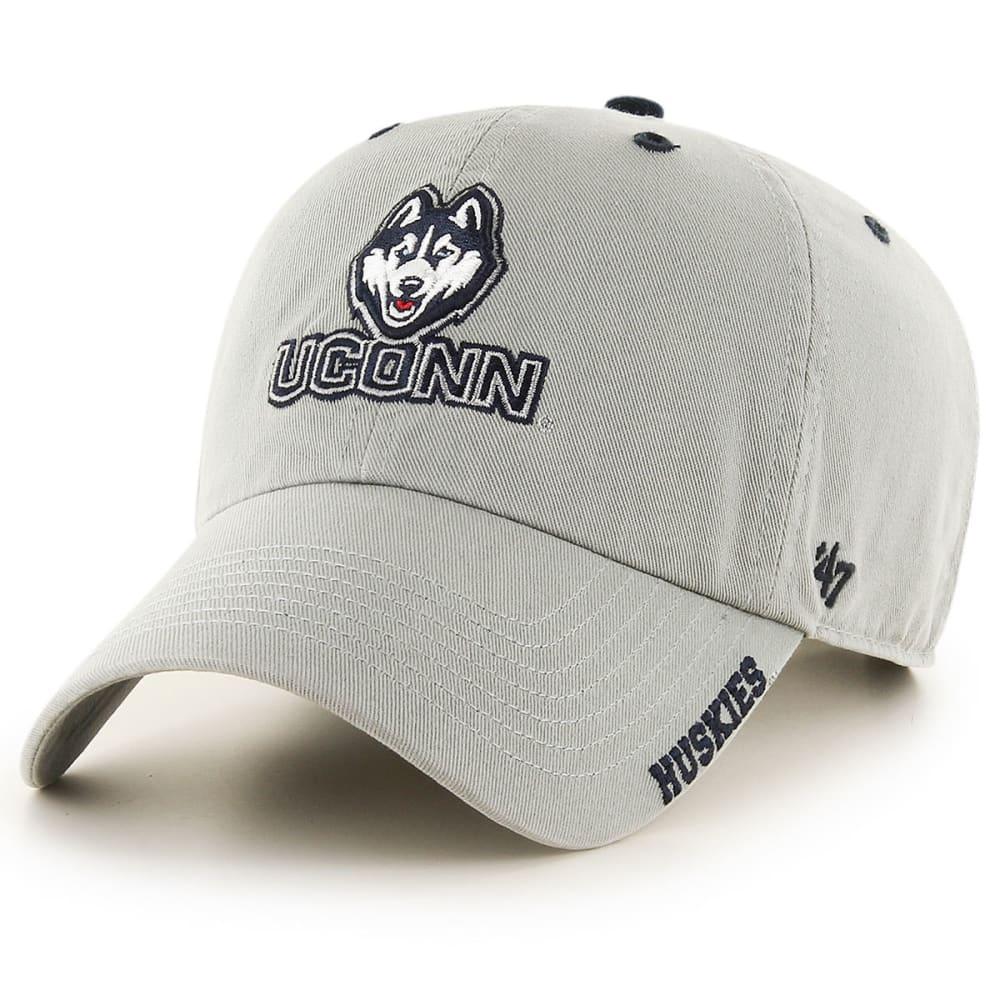 UCONN Men's '47 Clean Up Adjustable Hat - GREY