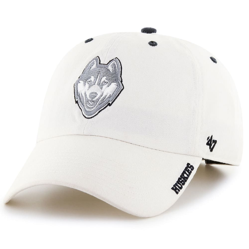 UCONN Men's Ice '47 Clean Up Dog Adjustable Hat - WHITE