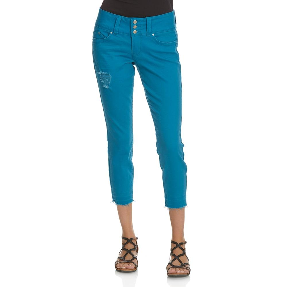 ROYALTY Women's Twill Triple Button Jeans - BLUE JAY