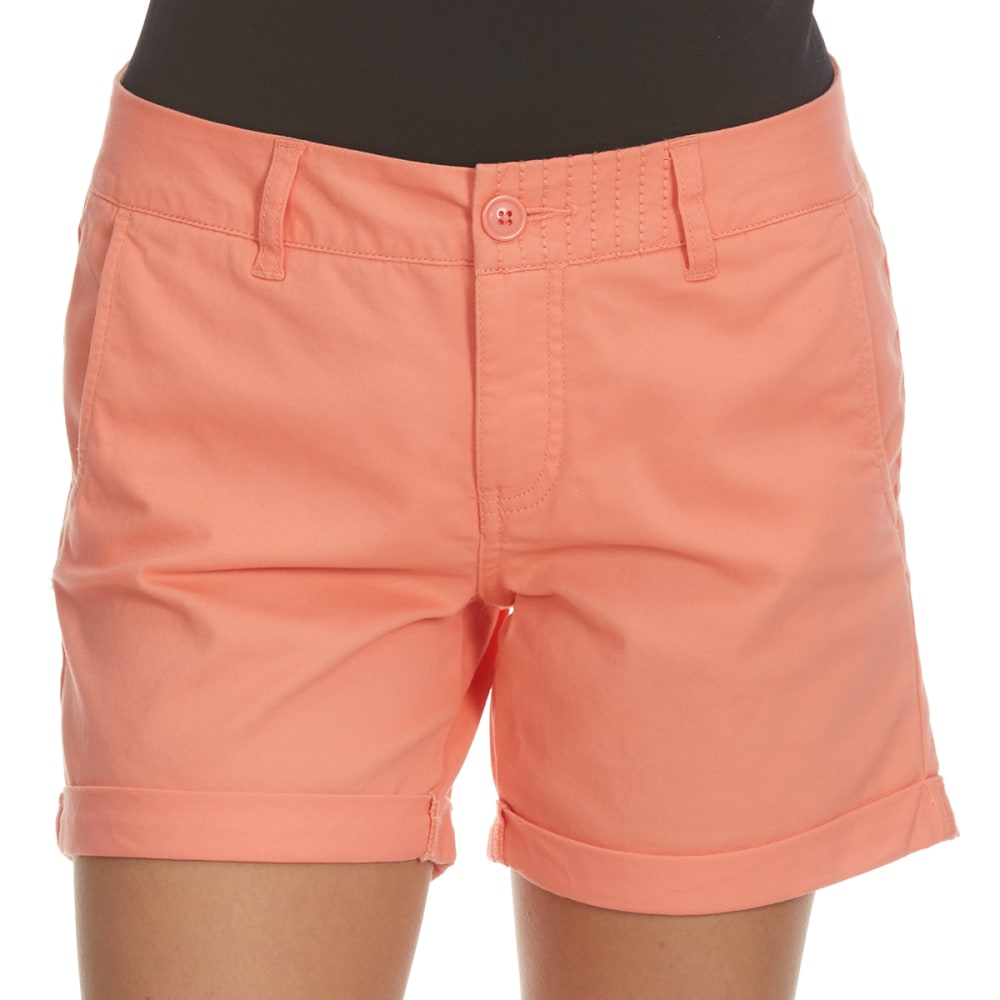 ROYALTY Women's 5 in. Twill Shorts - APRICOT