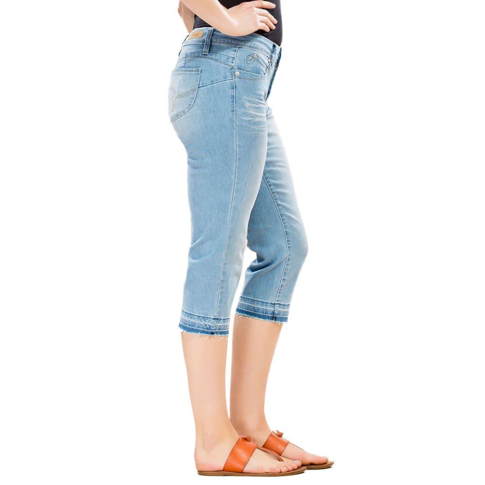 ROYALTY Women's Wanna Betta Butt Release Hem Capri - C12-LT WASH