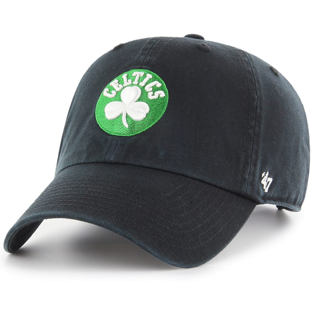BOSTON CELTICS Men's Clean Up Adjustable Hat, Black - BLACK