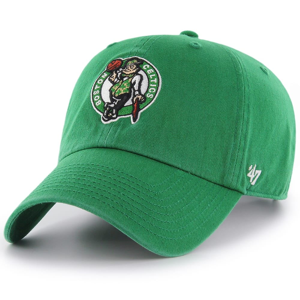 BOSTON CELTICS Men's Clean-Up Adjustable Hat - KELLY GREEN