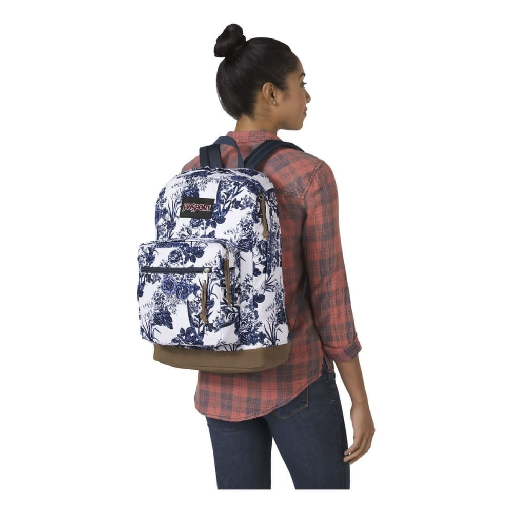 JANSPORT Right Pack Expressions Backpack - WHITE ARTIST ROSE32G