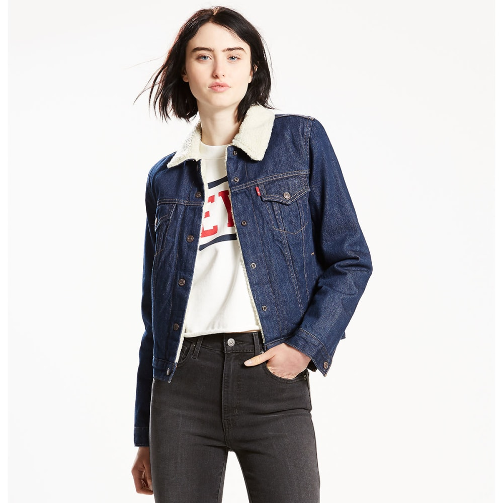LEVI'S Women's Original Sherpa Trucker Jacket - 0001-VAST WATERS