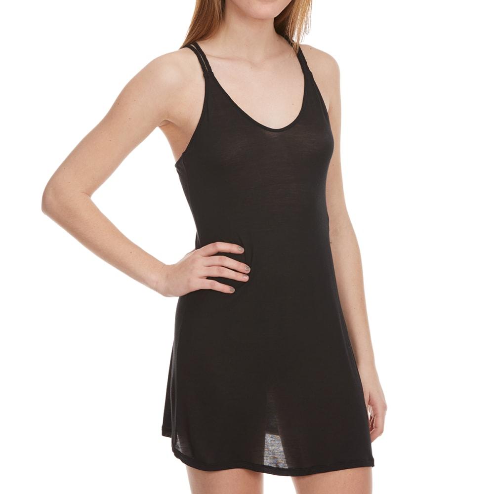 TRESICS FEMME Juniors' Cross Back Jersey Cover-Up Dress - BLACK