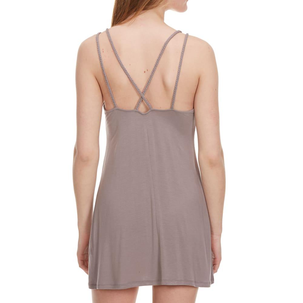 TRESICS FEMME Juniors' Cross Back Jersey Cover-Up Dress - BALSAMIC