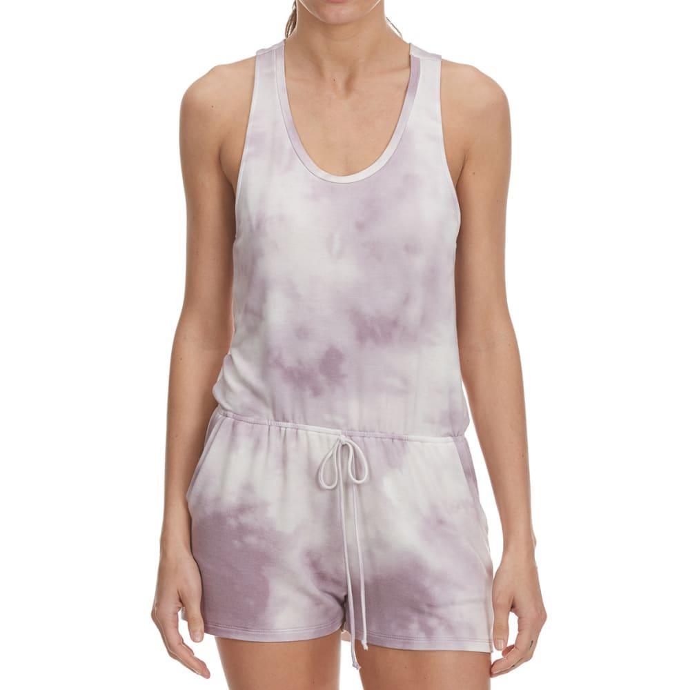 TRESICS FEMME Juniors' Tie Dye Tank Romper - LILAC GRY