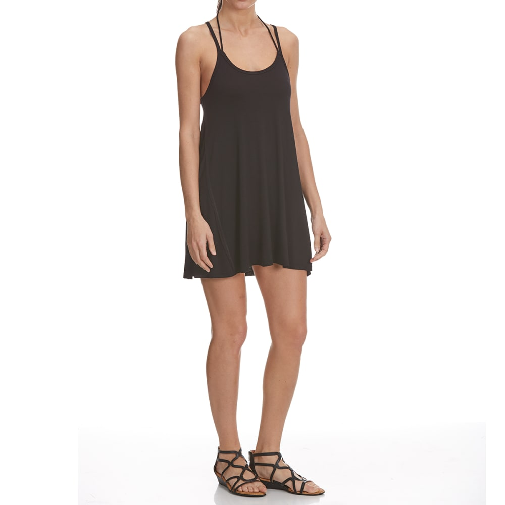 TRESICS FEMME Women's Strappy Cami Dress Coverup - BLACK