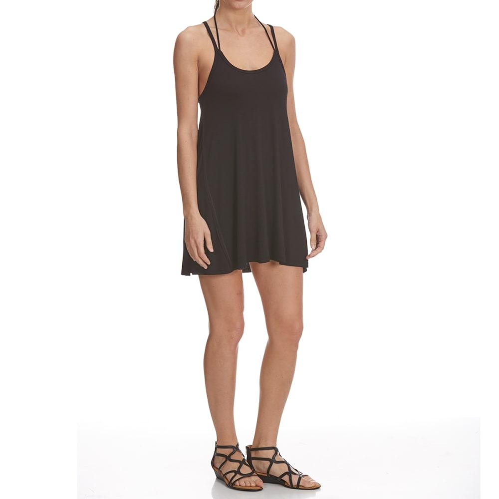 TRESICS FEMME Women's Strappy Cami Dress Coverup - BLACK