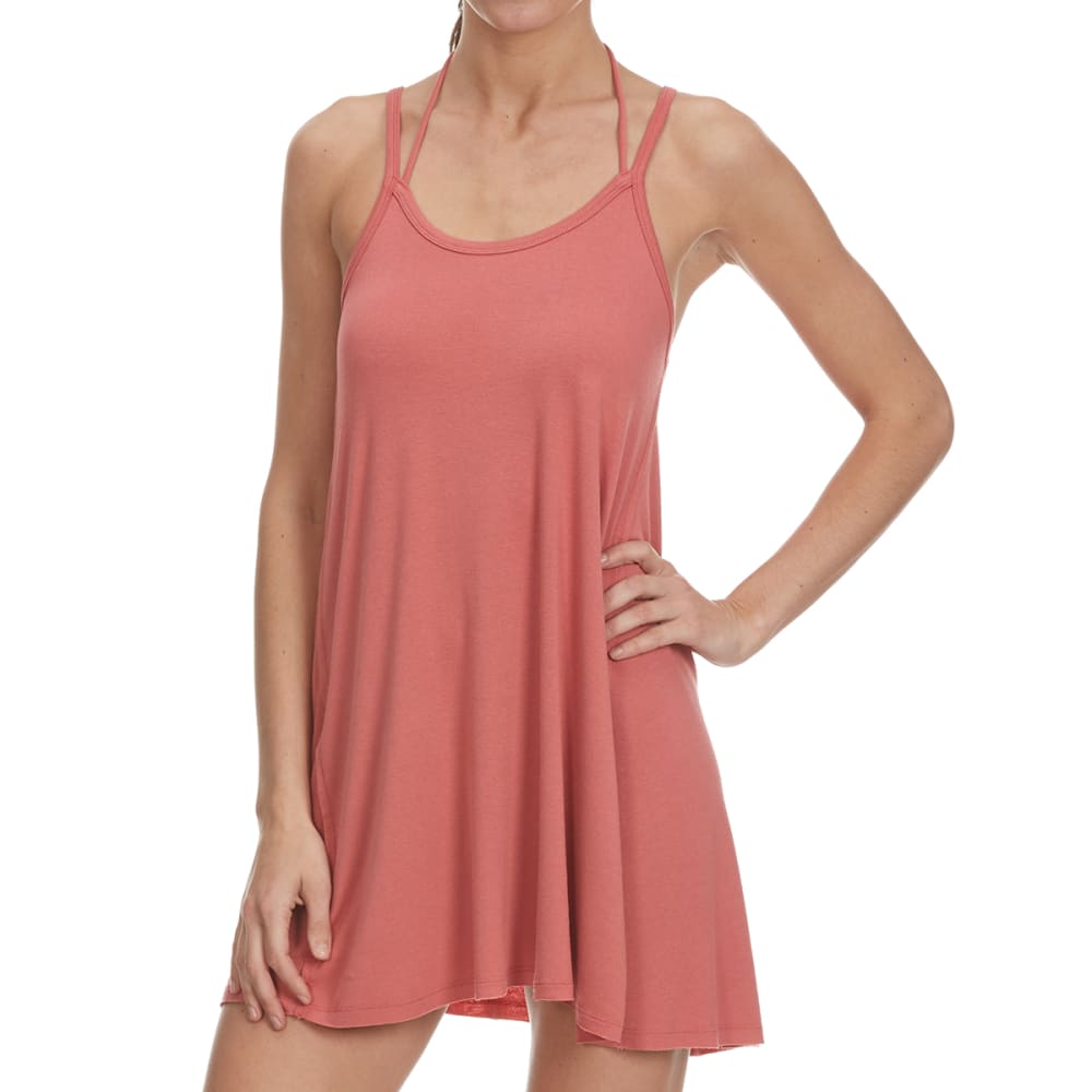 TRESICS FEMME Women's Strappy Cami Dress Coverup - MARSALA